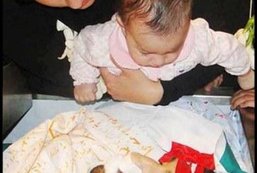تصاویر وداع جانسوز دختر و پدر