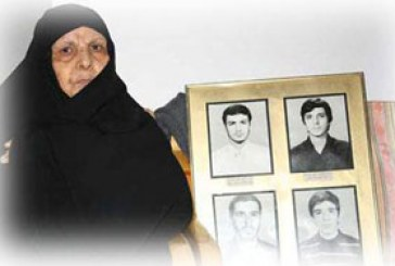عکس و نوشته : مادر شهیدی که نتونست اشک امامو ببینه